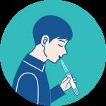 PCR検査唾液採取法