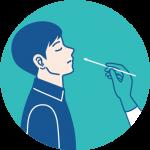 PCR検査鼻咽頭ぬぐい検査